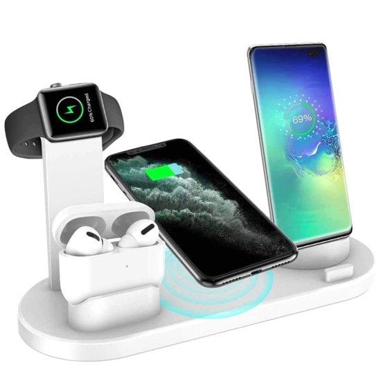 Andowl Πολυλειτουργική Ασύρματη Βάση Φόρτισης 5 Σε 1 iPhone, Ipad, Iwatch, Earp Q-L023