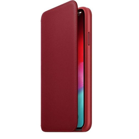 Apple Leather Case Folio iPhone XS Max Κόκκινη