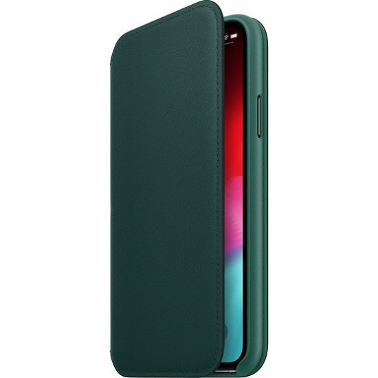 Apple iPhone X/Xs Leather Folio Forest Green