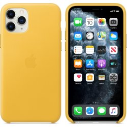 Apple Leather Case iPhone 11 Pro Κίτρινη