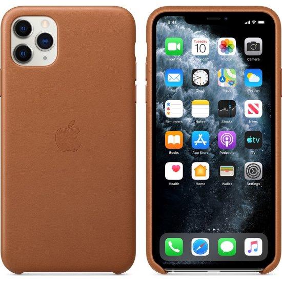 Apple Leather Case iPhone 11 Pro Max Καφέ