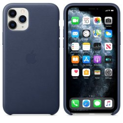 Apple Leather Case iPhone 11 Pro Σκούρο Μπλε