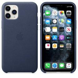 Apple Leather Case iPhone 11 Pro Σκούρο Μπλε