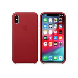 Apple Leather Case iPhone XS  Max Κόκκινη