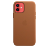 Apple Leather Case iPhone 12/12 Pro with MagSafe Καφέ