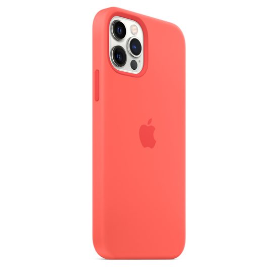 Apple Silicone Case iPhone 12/12 Pro with MagSafe Κοραλί