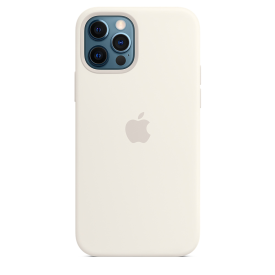 Apple Silicone Case iPhone 12/ 12 Pro with MagSafe Λευκή