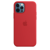 Apple Silicone Case iPhone 12/12 Pro with MagSafe Κόκκινη