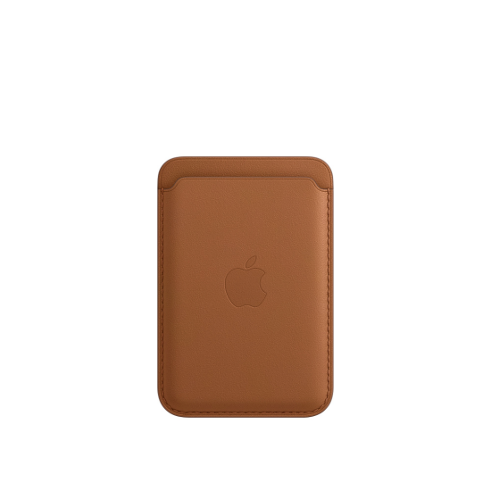 Apple Leather Wallet iPhone with MagSafe Καφέ