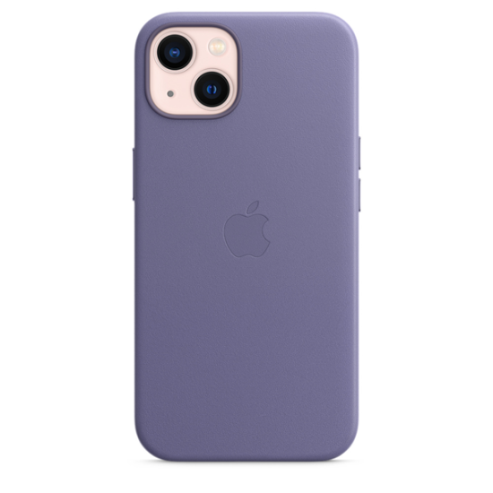Apple Leather Case iPhone 13 with MagSafe Wisteria