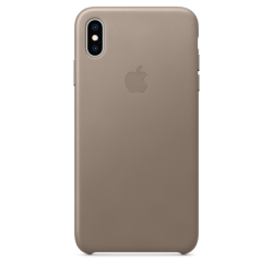 Apple Leather Case iPhone XS  Max Taupe