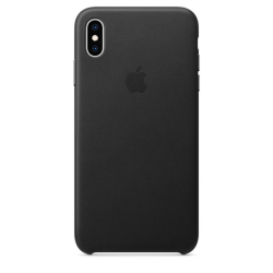 Apple Leather Case iPhone XS  Max Μαύρη