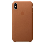 Apple Leather Case iPhone XS  Max Καφέ
