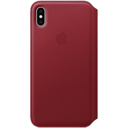 Apple Leather Case Folio iPhone XS Max Κόκκινη