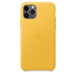 Apple Leather Case iPhone 11 Pro Κίτρινη