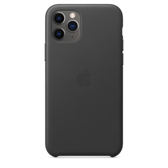 Apple Leather Case iPhone 11 Pro Μαύρη