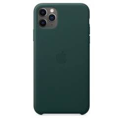 Apple Leather Case iPhone 11 Pro Max Σκούρο Πράσινο
