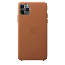 Apple Leather Case iPhone 11 Pro Max Καφέ