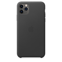 Apple Leather Case iPhone 11 Pro Max Μαύρη
