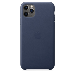 Apple Leather Case iPhone 11 Pro Max Σκούρο Μπλε