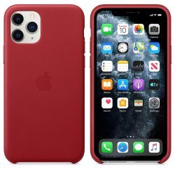 Apple Leather Case iPhone 11 Pro Κόκκινη