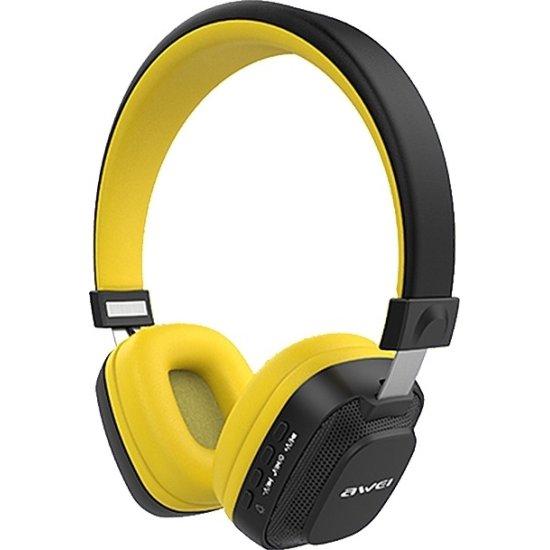 Awei Bluetooth Stereo Headphones Κίτρινα