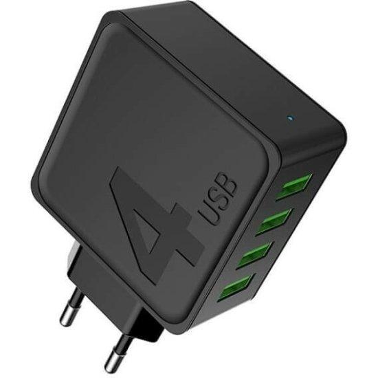 Awei Adapter 4 USB Μαύρο