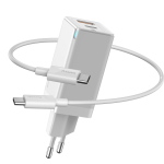 Baseus Travel PD Charger GaN 45W USB/Type-C Λευκό