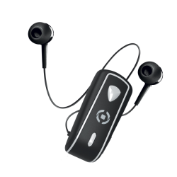 Celly Bluetooth Clip On 2 Stereo Retractable Μαύρο