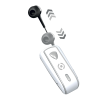 Celly Bluetooth Clip On 2 Stereo Retractable Λευκό