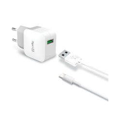 Celly Travel Adapter 2.4A Kit Usb Type -C Cable Λευκό