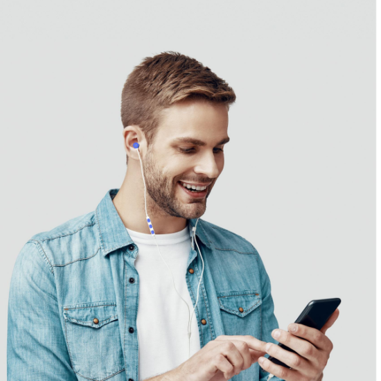 Celly Up 1000 Stereo Earphone 3.5mm Μπλε