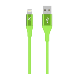 Celly Color Data Cable Extra Strong Lightning Usb Πράσινο