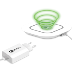 Celly Qualcomm Turbo Wireless Kit Charger 3 In 1 With Type-C Cable