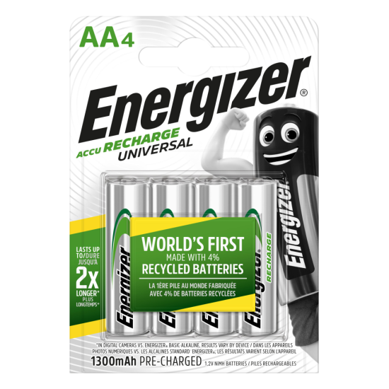 Energizer Rechargable Batteries AA 1300mAh