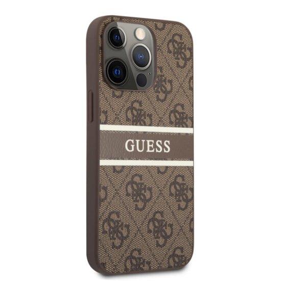 Guess 4G Logo Stripe PU Leather Case iPhone 13 Pro