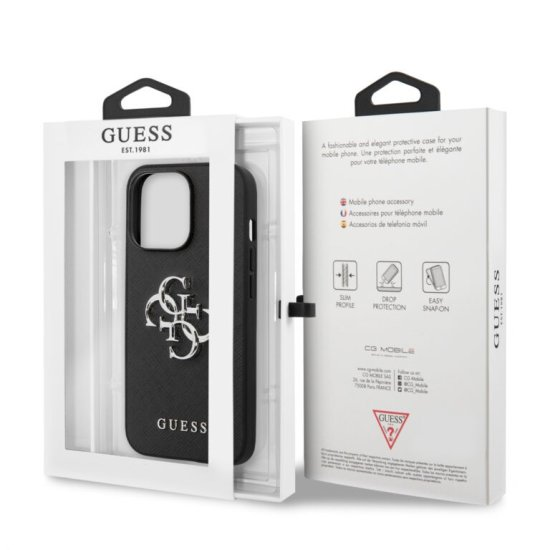 Guess 4G Logo Collection PU Leather Hard Case iPhone 13 Pro