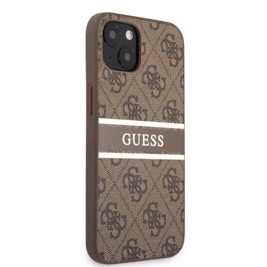 Guess 4G Logo Stripe PU Leather Case iPhone 13