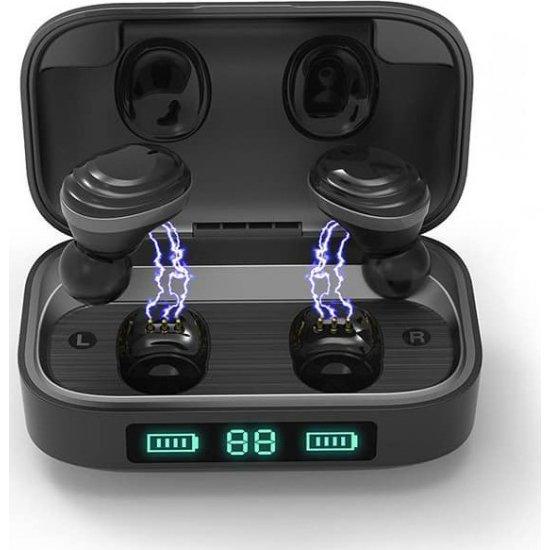 Ipipoo TP10 True Wireless Sport Earphones Μαύρα