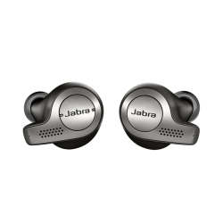 Jabra Bluetooth Elite 65e Titanium Μαύρα