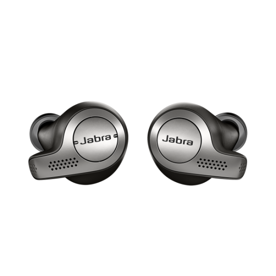 Jabra Bluetooth Elite 65e Titanium Μαύρα