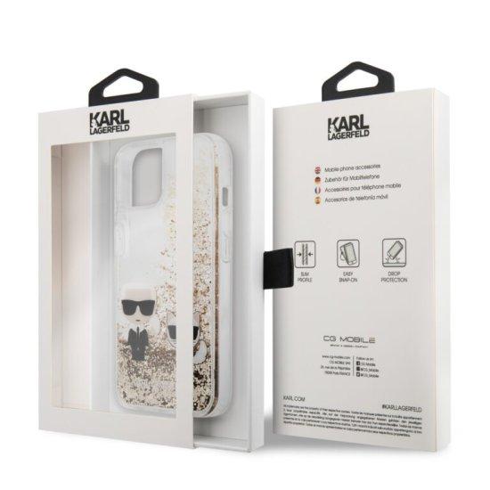 Karl Lagerfeld Hard Case Karl+Choupette  iPhone 13 Clear/Glitter Gold