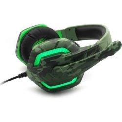 Komc G312 Gaming Headset 3.5 mm Army Πράσινο