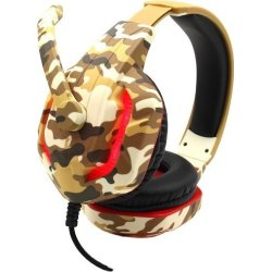 Komc G312 Gaming Headset 3.5 mm Camo Καφέ