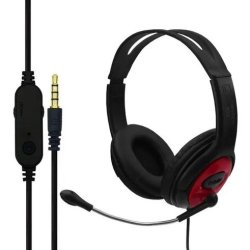 Komc S66 Gaming Headset 3.5 mm Κόκκινο