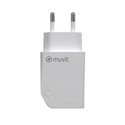 Muvit Travel Charger USB 2.4A 12W 100% Recyclable Λευκό