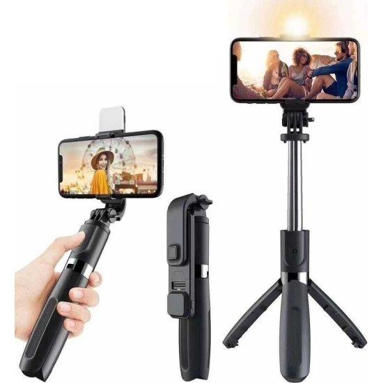 Bluetooth Selfie Stick με Φωτισμό και Ασύρματο Χειριστήριο L02s