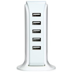 Desktop Usb Charger 30W 6 USB Λευκό