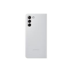 Samsung Clear View Cover Galaxy S21 Ανοιχτό Γκρι