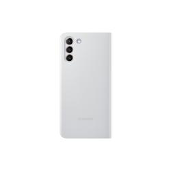 Samsung Clear View Cover Galaxy S21 Plus Ανοιχτό Γκρι